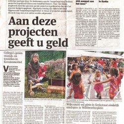 Kinderkunstenmobiel en Intelligent playground in Gazet van Antwerpen